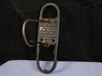 Antique Peckhams Harper Willenhall Ltd Key Padlock Lock Holder Letter Clip Rack
