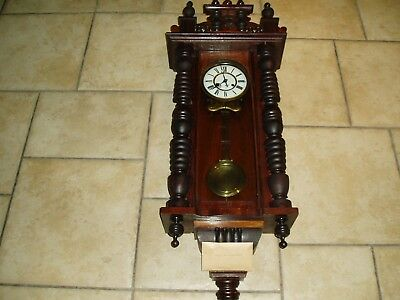 Vienna Antique wall clock about 1900 clock over wound hence not working