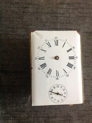Antique Carriage Clock Movement With Alarm For Repair Spare Parts 85x60x50mm