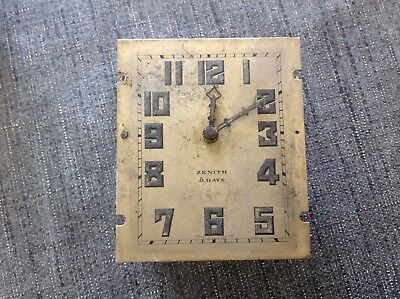 Zenith Eight 8 Day Chiming Clock Movement For Restoration Repair Spare Parts