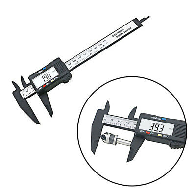 QSTEXPRESS Micrometer Measuring Tool 150mm LCD Digital Vernier Caliper Gauge