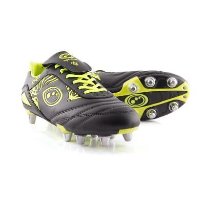 Mens Yellow Optimum Razor Rugby Boots In UK sizes 7,8,9 & 10 RRP £30.00