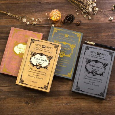 4 Colors Vintage Classic Cardboard Journal Travel Notepad Notebook Blank Diary