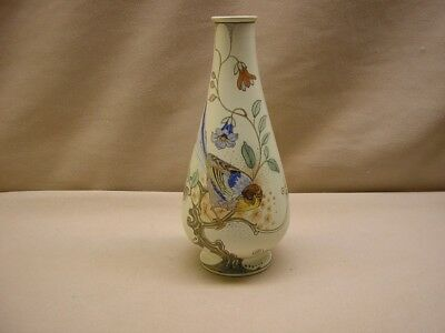 Gouda earthenware vase marked Zuid-Holland with bird decoration, year 1918.