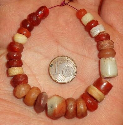 13mm Beads Antique Africa Ancient Mali African Neolithic Agate Carnelian Beads