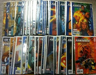 Ultimate Fantastic Four #1-59 complete + Annuals #1-2  comic book lot Thing