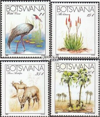 Flora Botswana 258-261 Mint Never Hinged Mnh 1980 Christmas Topical Stamps
