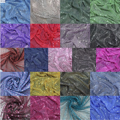 3mm Sequin fabric material sparkly material fancy dress 110cm