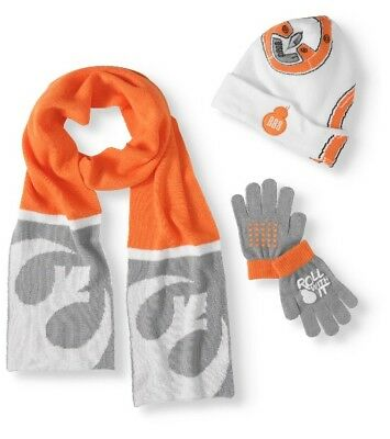 Star Wars BB8 3-Piece Knit Hat Scarf and Gloves Set - One Size Fits Most