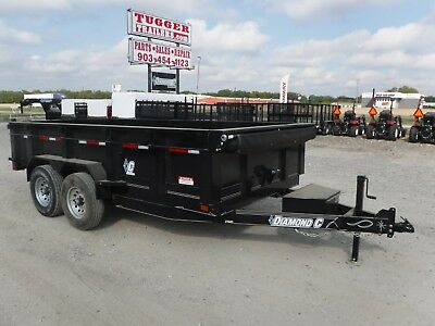 82x14 14ft Dump Work Construction Equipment Dirt Rock Hydraulic Lift Trailer TX!