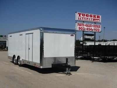 8.5 x 24 24ft Enclosed Cargo Race Car Dirt Drag Show Spread Trailer Texas DFW LA