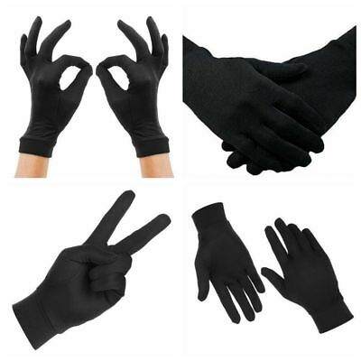 Pure Silk Black Liner Inner Thin Gloves Thermals Ski Bike Motorcycle Soft Sports
