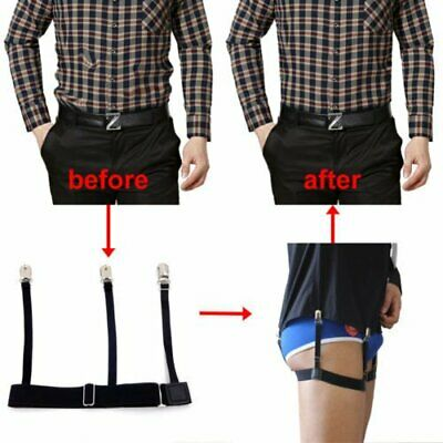 2x Men Shirt Stays Holder Garters Suspenders Military Uniform Non-slip Locking