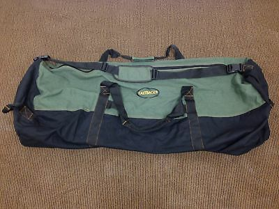"Outback Men's Heavy-Duty LARGE Canvas Duffle Bag Travel Luggage 30""x 18"" UVG"