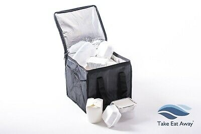 Take Away Delivery Drivers Bag Insulated Home Deliveries Bags Mesh Pocket T19