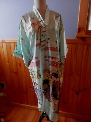 Oriental Village Silk Collection....geisha Girl Wrap Robe...lg