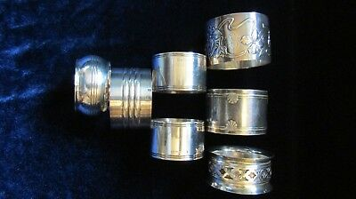 Antique/ vintage, 7 assorted Christofle France Silver Plated Napkin Rings ...