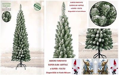 Tree Christmas Silvestre Cm.180 Slim and Snowy High Quality Warmth Reduced