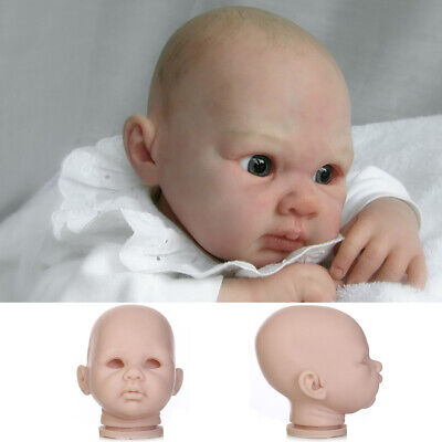 "Unpainted Reborn Kits Soft Vinyl Head & 3/4 Limbs Mold for 20"" Reborn Baby Doll"
