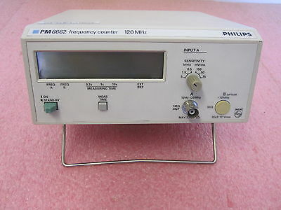 Philips Fluke PM6662 Frequency Counter 120MHz PM6662/011