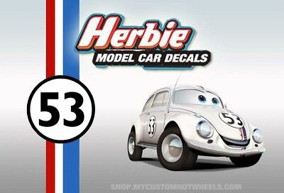 Herbie Decals | Waterslide Transfers for 1/64 1/43 1/32 1/24 & 1/18 scale Models