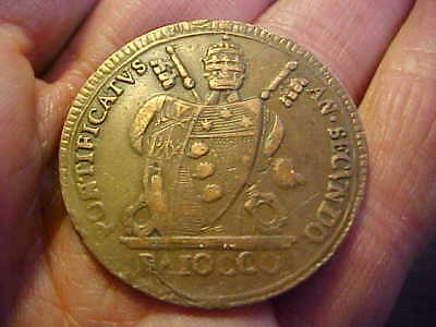Vatican, 1802 Papal States Baiocco MDCCCII  KM # 1267,  PIUS VII NICE XF COIN