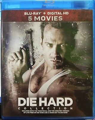 Die Hard: 5-Movie Collection (Blu-ray Disc, 2017, 5-Disc Set)