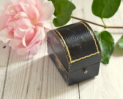 Antique / Vintage Mappin & Webb of London tooled leather napkin ring gift box