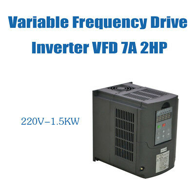 Frequenzumrichter VFD 1.5KW 220V VARIABLE FREQUENCY DRIVE INVERTER UPDATED