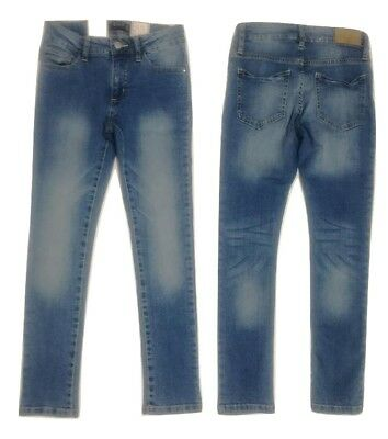 NEW Girls Blue Denim Skinny Fit Jeans Age 8 9 10 11 Years