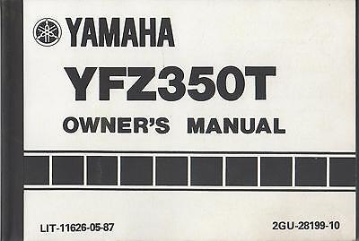 1987 Yamaha Atv  Yfz350T  Lit-11626-05-87 Owner's Manual (121)
