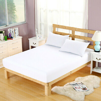Hypoallergenic Elastic Mattress Pad Cover Protector Quilted Fitted Bed Cover