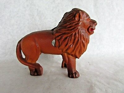 Small Cast Iron Bank - Lion - Reproduction of Earlier Piece