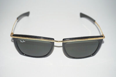 Vintage Ray-Ban Sunglasses Black W/Metal Frames Gold Tone Top Bar & Side Temples