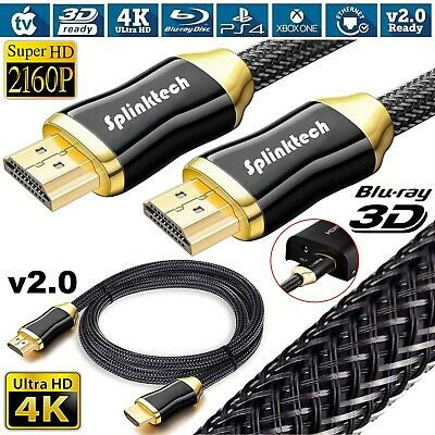 CAVO HDMI ORO 5 M ULTRA FULL HD 4K 2160p V2.0 EHTERNET ALTA VELOCITA PS4 TV SKY