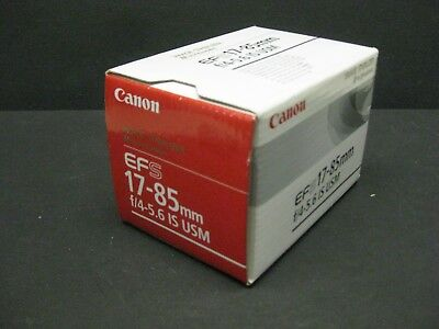 Canon EF-S 17-85mm f/4.0-5.6 IS USM Lens new old stock brand new Canon USA