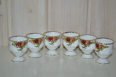 Royal Albert-Porzellan-Bone China-England-Old Country Roses-6 St. Eierbecher-Top