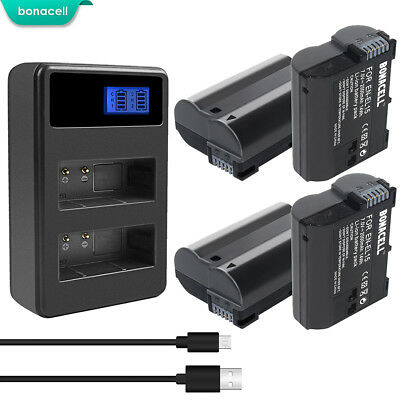 New EN-EL15 battery for Nikon 1 V1 D500 D600 D610 D750 D800 D7000 D7100 D800E SK