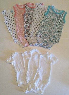 Lot Of 7 Baby Girl Body Suits Koala Baby & Carters Size 12 Month Euc