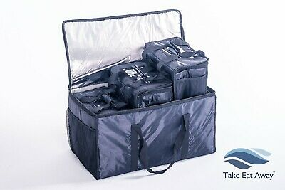 4xTake Away Delivery Drivers Bags - Deliver Food/Drink Hot/Cold TOGETHER T81/T31