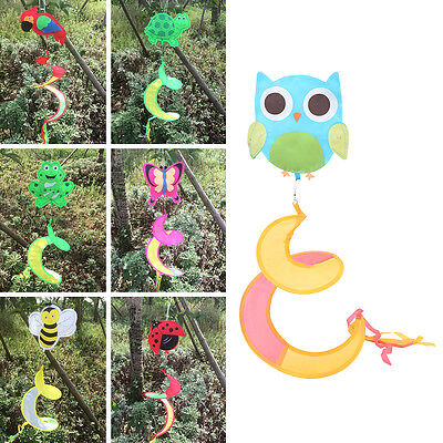 Animal Spiral Windmill Colorful Wind Spinner Lawn Garden Yard Outdoor Decor XE