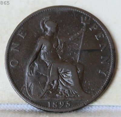 1895 Great Britain One Penny *Free S/H After 1st Item*