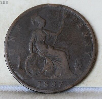 1887 Great Britain One Penny *Free S/H After 1st Item*