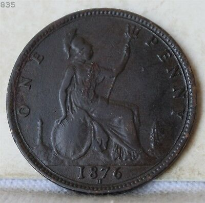 1876-H Great Britain One Penny *Free S/H After 1st Item*