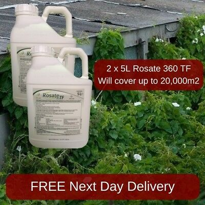 VERY STRONG PROFESSIONAL WEED KILLER ROSATE 36 5L KILL GRASS x2
