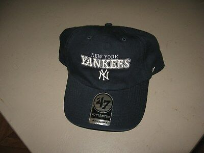 5e3685dbba388 ... where to buy new 47 brand new york yankees clean up adjustable black  baseball hat 6fa77