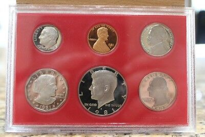 1981 Cameo Proof set Type 2 clear S on all Susan B Anthony