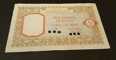 SYRIA, Bank of Syria and Lebanon 10 Lira (pounds) 1949