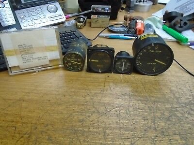 Lot of Vintage Antique vietnam era Instruments, Airplane, Aircraft Gauges collec