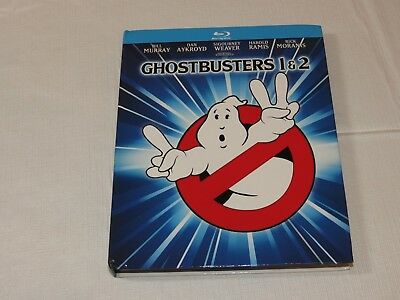 Ghostbusters & Ghostbusters 2 Blu-ray Disc 2014 2-Disc Set Mastered in 4K Movie